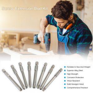 50PC 75mm Lengthen Multipurpose Screw Driver Bit Extension Rod Kit
