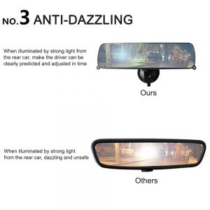 Universal Interior Rear View Mirror Suction Rearview Mirror for Car Truck
