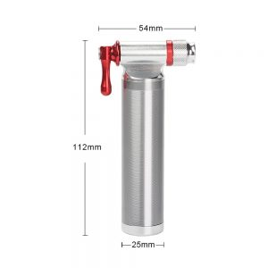Bicycle Mini Pump CO2 Inflator Fits Presta & Schrader, Bike Bicycle Tire Pump with Mount Kit High Pressure Hand Pumps for Road and Mountain Bikes