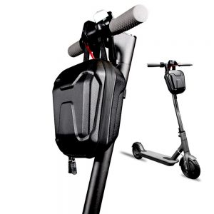 Scooter Storage Bag, Rainproof Scooter Handlebar Bag, Hard Shell Front Hanging Bag Fit for Carrying Charger Tools, Repair Tools, 2.5L Large Capacity for Kick Scooters Folding Bikes