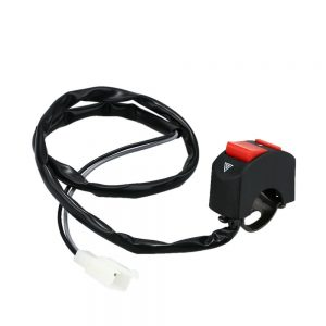 Universal Motorcycle Double Flash Warning Light Switch 2.2cm 2.5cm Handlebar Design DIY ON-OFF Switch Accessory for Motorbike Scooter ATV