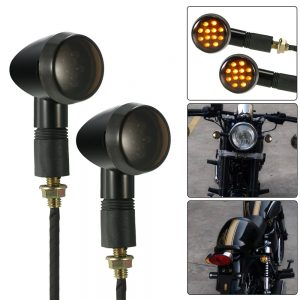 One Pair of Motorcycle LED Turn Signal Light Universal for Harley Cafe Racer Custom