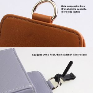Car Seat PU Back Tidy Storage Coin Bag Case Air Vent Organizer Beige