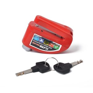 Motorcycle Scooter Bicycle Anti-theft Wheel Disc Brake Lock Security Alarm Red