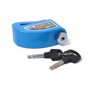 Motorcycle Scooter Bicycle Anti-theft Wheel Disc Brake Lock Security Alarm Blue